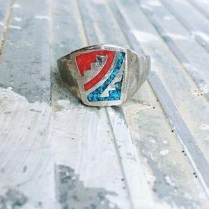Vintage Stone Inlay Ring